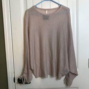 Wishlist semi sheer dolman sleeve pink sweater